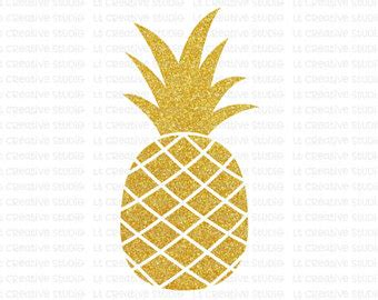 pineapple top silhouette pineapple silhouette etsy