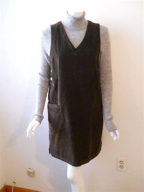 corduroy jumper skirt vtg corduroy jumper dress eddie bauer small by sussudionyc