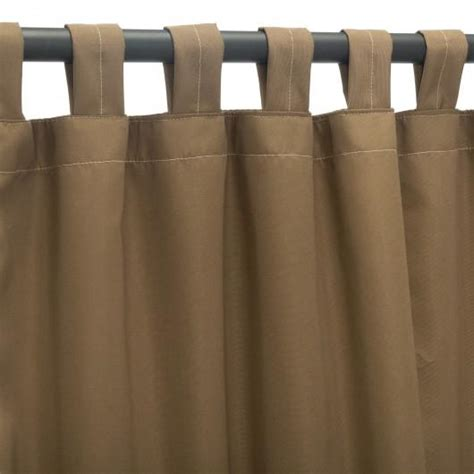 sunbrella outdoor curtain panel with tab top canvas