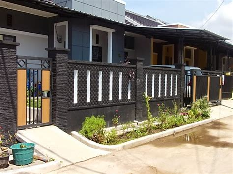model pagar tembok minimalis desainrumahnyacom