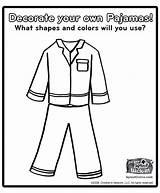 Polar Express Pajama Coloring Template Preschool Activities Pajamas Sheet sketch template
