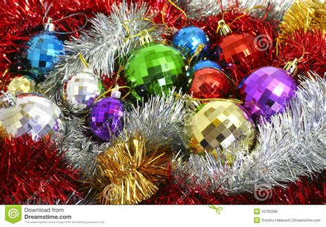 Tinsel And Christmas-tree Decorations Stock Image Crafts Christmas Gifts Personalized For Family Top Mens 2013 Gift Ideas Employees Delivered A Cause Japanese What Are The Of 12 Days