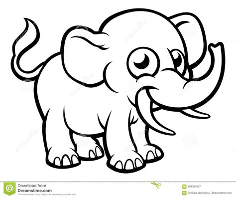 cartoon elephant character stock vector illustration