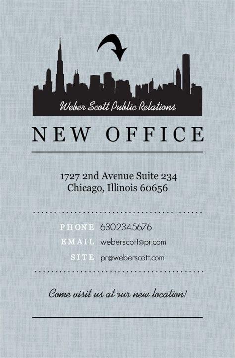 black city gray linen business moving announcement