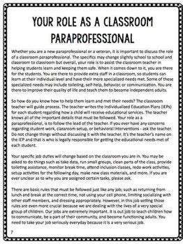 paraprofessional training manual   autism helper tpt