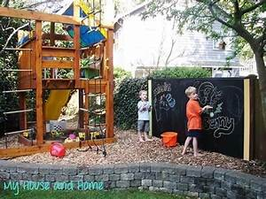 30 ) Give kids a place to play by setting up a chalk board