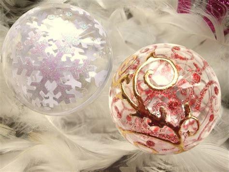 comment decorer des boules de noel transparentes tutoriel boules de no 235 l transparentes femme2decotv