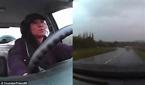 Dashcam video footage shows woman driver looking BORED as ...