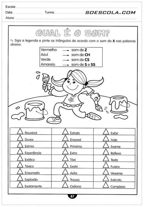 rosearts atividades para imprimir s entre vogais sons do x ss portugu 234 s sons