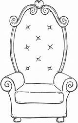 Chair Coloring Pages Fancy Colouring Throne Books Drawing Clip Outlines Uploaded User Open Stamps Discover sketch template