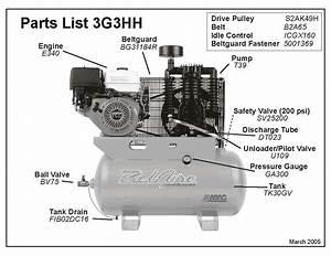 Belaire 3g3hh  U0026 3g3hhl Air Compressor Parts