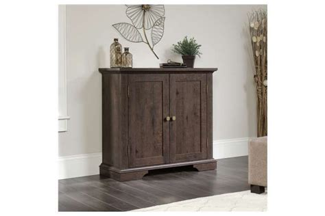 Accent Storage Cabinet   Cobblestone White or Coffee Oak