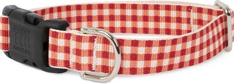 HARRY BARKER Gingham Polyester Dog Collar, Red, Medium: 13 ...