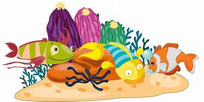 Coral Reef Clipart Fish Clip Cartoon Vector