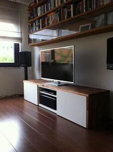 stylish tv audio cabinet ikea hackers besta tv unit with With meuble 8 cases ikea 0 kallax shelving unit with drawers high gloss grey