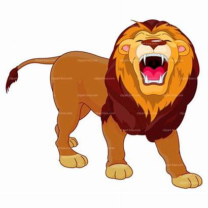Lion Clipart Roaring Angry Clip Cartoon Female