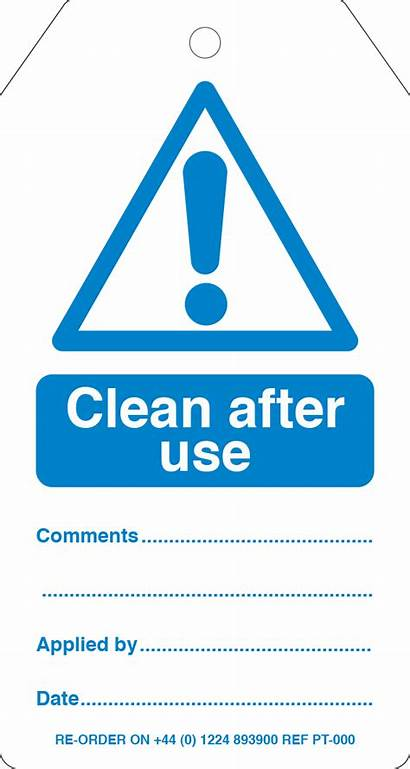 Tags Warning Tag Mandatory Clean Ref Required
