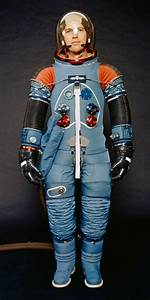 Apollo space suit without outer layer or helmet [Wikipedia ...