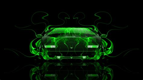 lamborghini countach front fire abstract car  el tony