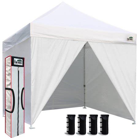 eurmax    pop  canopy commercial tent outdoor party shelter   zippered sidewalls