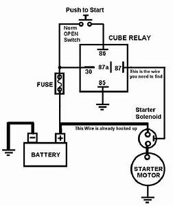 Simple Push Button Starter Diagram