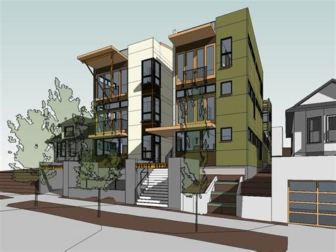stunning  story townhouse   architecture plans