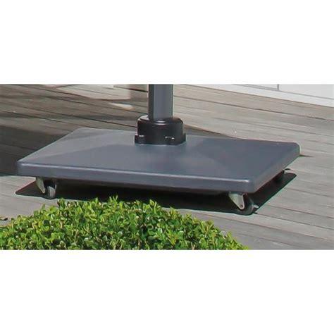 pied parasol beton luxe roues frein 90kg