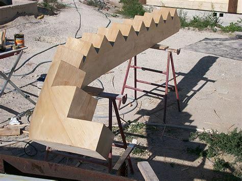 construction d un escalier 224 limon central 224 cr 233 maill 232 re