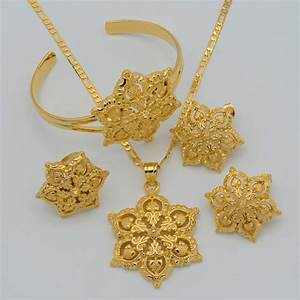 Aliexpress.com : Buy Gold Flowers set Jewelry Women Gold ...