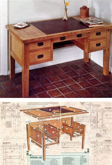 ideas  desk plans  pinterest woodworking desk plans build  desk  rogue build