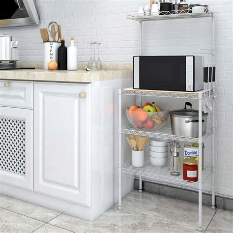 best kitchen storage best microwave stand with storage for your kitchen 1630