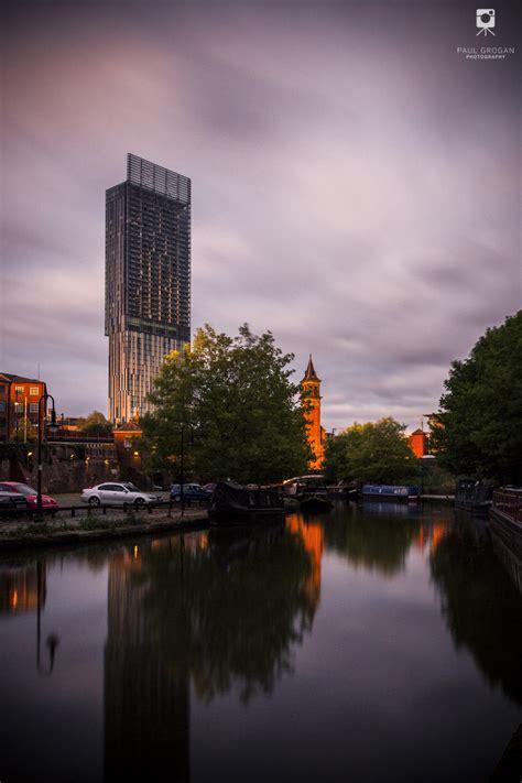 manchester urban sunset landscape photograph
