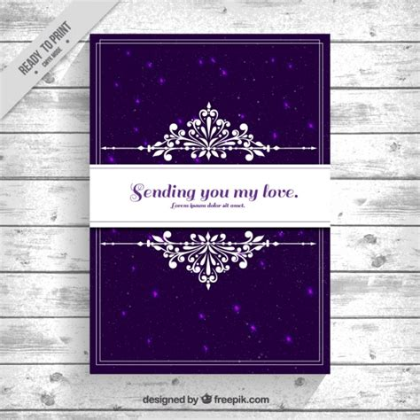 vector elegant card  purple background