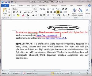 hyperlink With word documents links