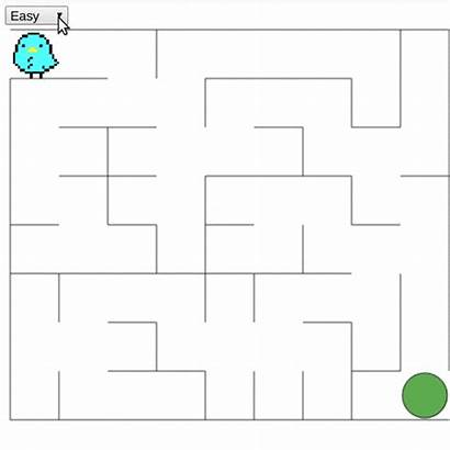 Maze Vue Difficulty Choose Generating Strategy
