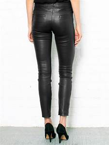 theory masia leather pants in black lyst With letter pants