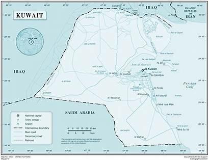 Kuwait Map Maps Carte Koweit Mapsof Riviere