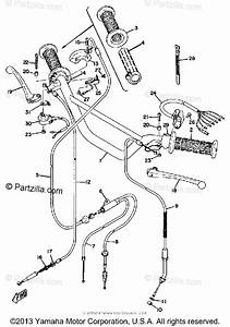 Yamaha Motorcycle 1972 Oem Parts Diagram For Handle