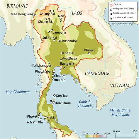 Thailande Carte Geographique Monde by Carte De La Tha 239 Lande