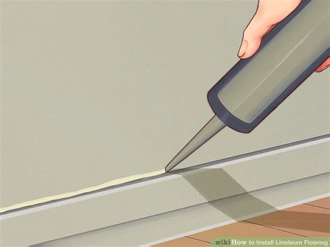 putting linoleum flooring how to install linoleum flooring with pictures wikihow