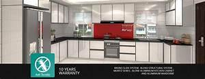 Aluminium kitchen cabinet johor bahru jb wardrobe for Kitchen furniture johor