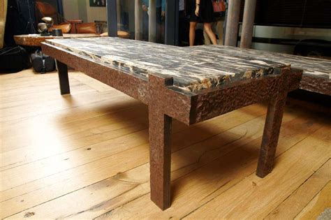 Rustic Petrified Wood Coffee Table — All About