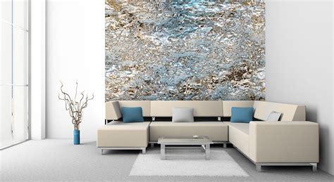 Wandgestaltung Mit Tapeten by Designer Tapete Tuerkis Gold Edle Struktur