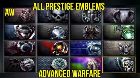 call  duty aw   prestige emblems