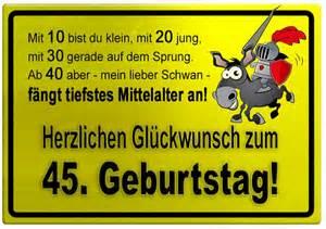 lustige geburtstagskarten sprüche gelbes schild mit esel und ritter zum 45 geburtstag geburtstagssprüche welt