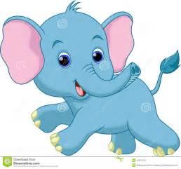 Cute Animated Baby Elephant Cartoon Wallpaper
