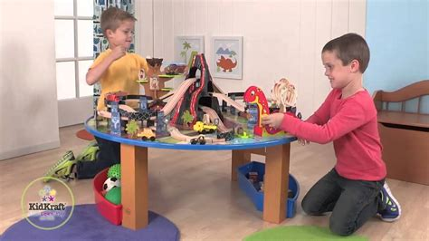 Kidkraft Dinosaur Train Set And Table Youtube