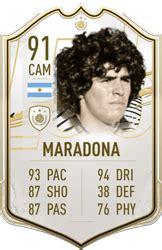 Homanejeamos al astro argentino recordando sus históricas puntuaciones. Diego Maradona - FIFA 21 Icon Player