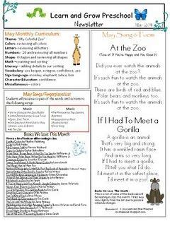 zoo preschool newsletter learn and grow designs 679   d3cee668a333eec8eb77a1673e6a5f4f