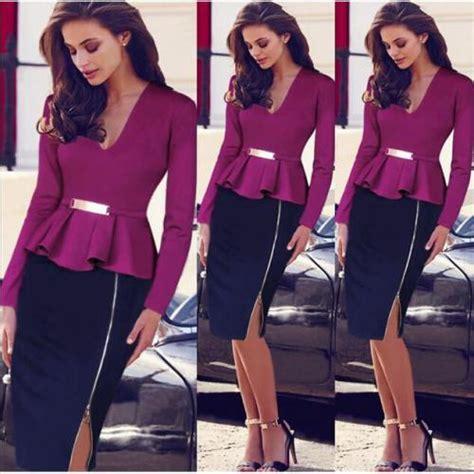 vetement de bureau robe femme vetement dame de bureau violet prix 45 00